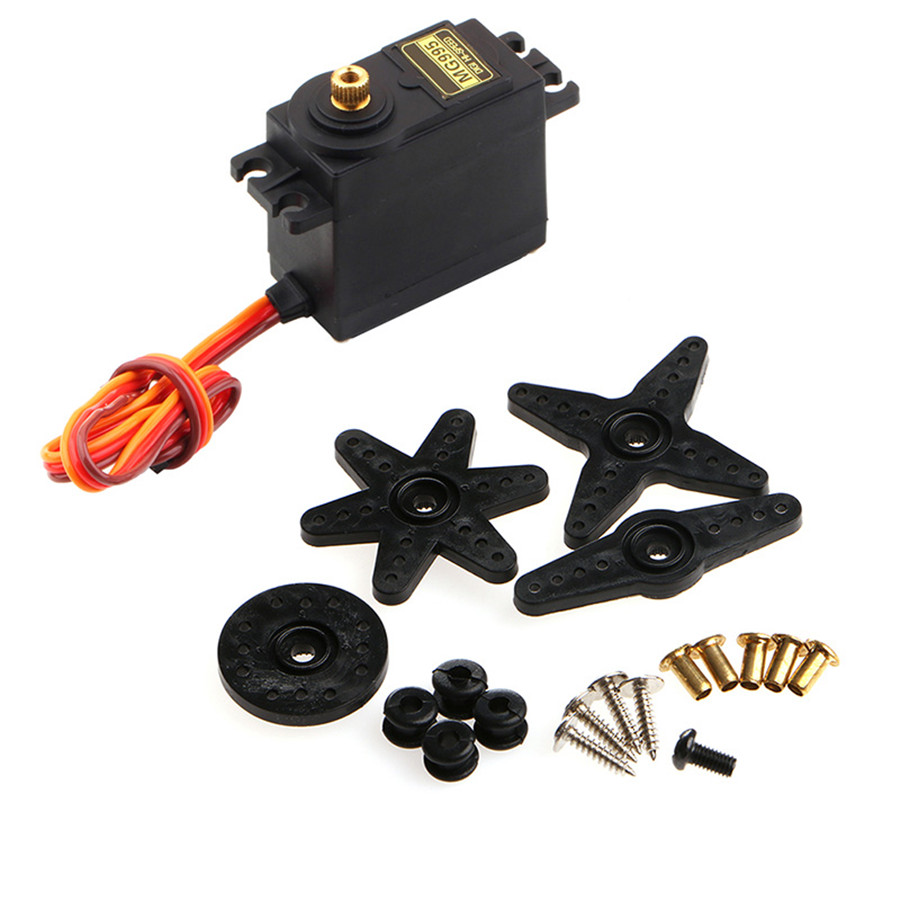 1pc Servo MG995 Gear Metal High Speed Torque For RC Helicopter Car Airplane Hot-P101 jx servo dc6015 14 32kg coreless metal gear high torque digital servo for rc airplane helicopter