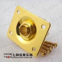 Gold color electric guitar sockets/guitar jacks/electric bass square faucets/guitar square output jacks/connection hole