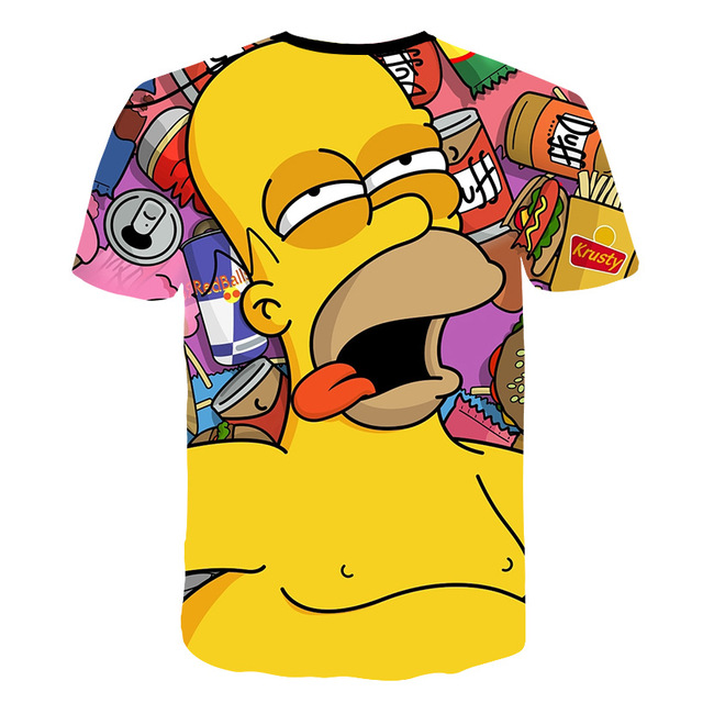 Newest clothing The Simpsons printed 3d Man Women t-shirt casual Harajuku Cartoon Funny tshirt Street Wearing