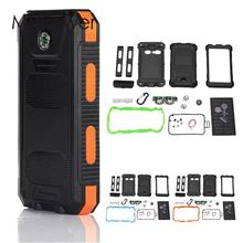 MVpower Waterproof LED Dual USB Solar Panel Power Bank Case Battery Charger