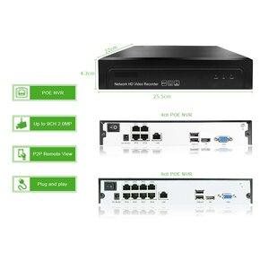 Image 3 - 4 канала 1080P POE Комплект H.265 система видеонаблюдения 8ch NVR 2.0MP наружная водонепроницаемая IP камера видеонаблюдения Сигнализация P2P G.Craftsman