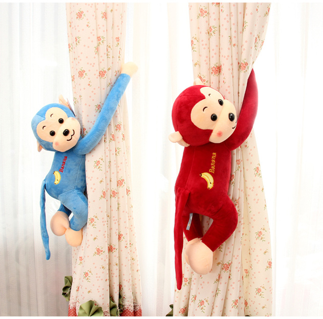 Kawaii Monkey Plush Toys For Birthday Gifts Creatively Hanging Bed Stroller Toys For Children Infant Newborn Soft Toys Kid Dolls