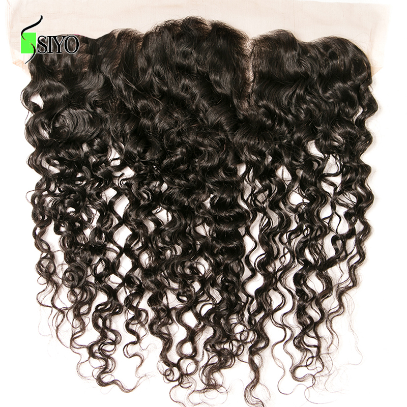 SIYO Hair 8-22inch Free Part Peruvian Kinky Curly Hair Closure 1 Piece 13x4 Lace Frontal Non Remy Human Hair Weave