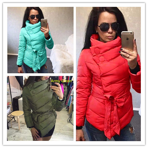 Women's Winter Jacket 2016 Cotton Down Coat Female Irregular Autumn Winter Warm Jackets Belt Parka Coats For Women Plus size 3XL