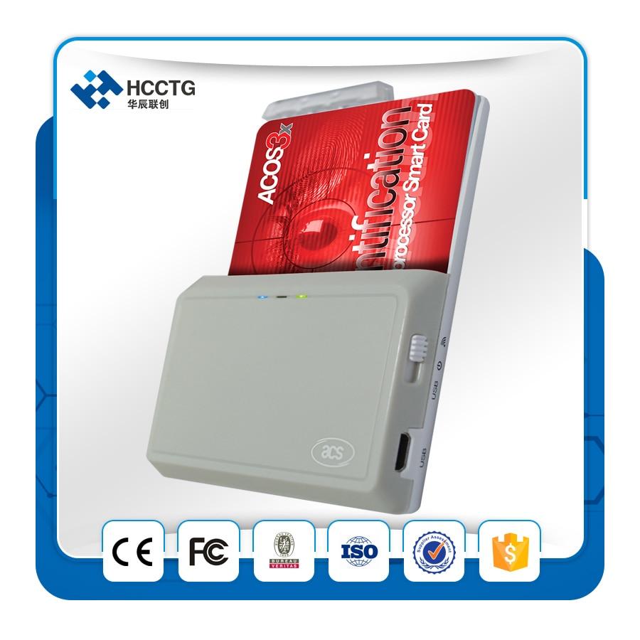 2016 дешевая цена Высокое качество Bluetooth контактный микросхема смарт карт читатель ACR3901U + 2 шт Бесплатные чиповые карты