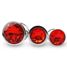 RunYu Sex Shop S ML Red Round Anal Plug Butt Beads Stimulator Sex Toys Product Dildo