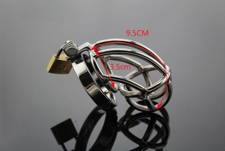 Male Men Chastity lock Stainless Steel Padlock Male Chastity Device Cock Cage Virginity Penis Lock Cock Ring keyed padlock