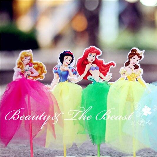 Prime 7 2 High Princess Snow White Ariel Cinderella Cupcake Toppers Birthday Cards Printable Inklcafe Filternl
