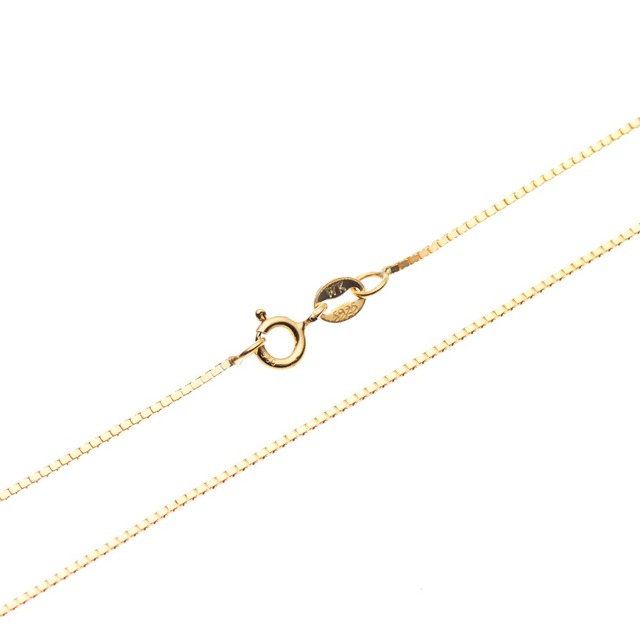 925 Sterling Silver Box Chain Necklace for Pendant 18 kt Gold Over