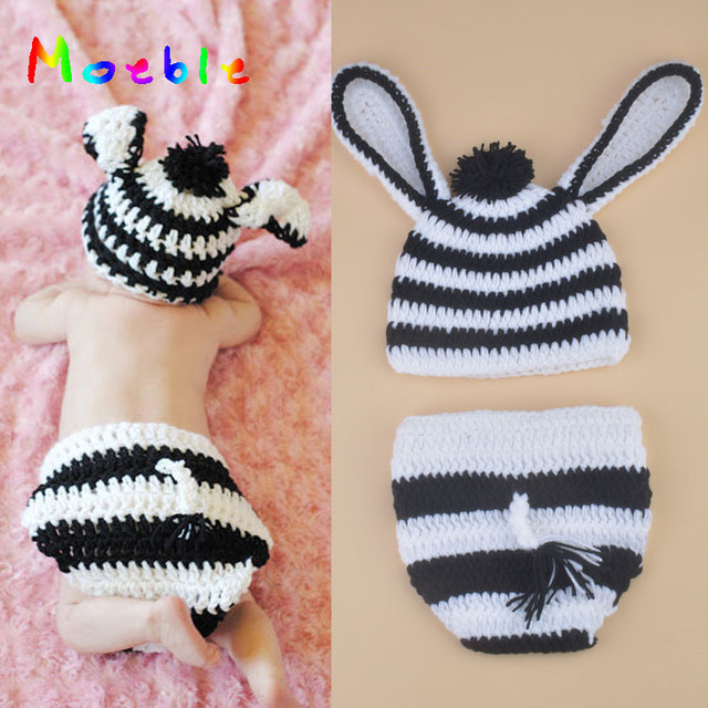 Nette Zebra Neugeborenen BABY Coming Home Outfits Häkeln Baby Hut ...
