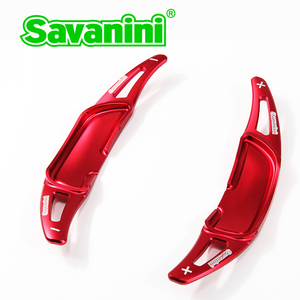 Image 5 - Savanini palas de cambio de marchas para volante de coche, de aluminio, extensión para Benz New AMG G63 C63 S63 GLA45 2013 2019