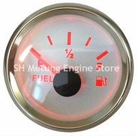 1pc 52mm Pointer Type Fuel Level Gauges 0 190ohm Fuel Level Meters 9 32v for Auto Boat Truck with Red Backlight