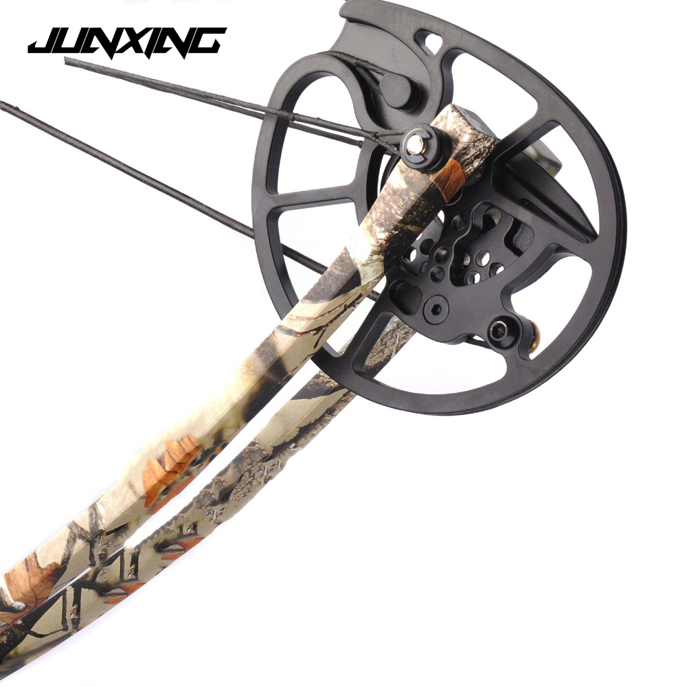 New 1 Pair Compound Bow Pulley Aluminum Alloy Suit 20-70 LBS Compound Bow DIY for Outdoor Hunting Shooting Fishing new model magic modeling compound 8 oz each neon 2 lbs 232413