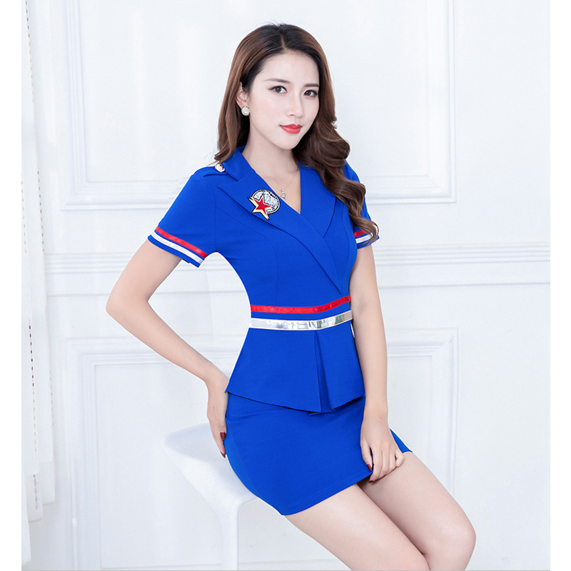 MOONIGHT Sexy Erotic Cosplay Stewardess Costume Women Sexy Temptation Uniform Sexy Costumes Top With Skirt For Adults S-3XL