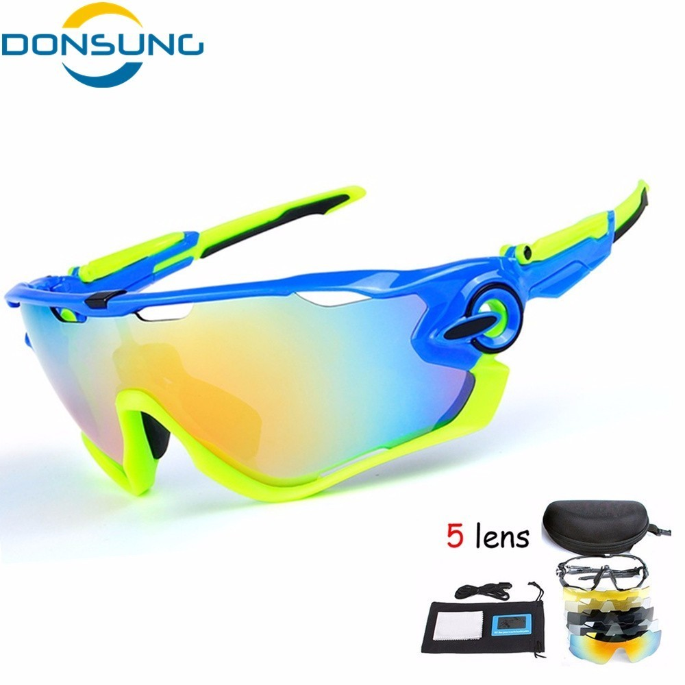 2018 Cycling Glasses Men Polarized 5 Lens Cycling Sunglasses Men Women Sport Bike Eyewear UV400 TR90 Goggles Bicycle Sun Glasses asics asics solid modified singlet page 2