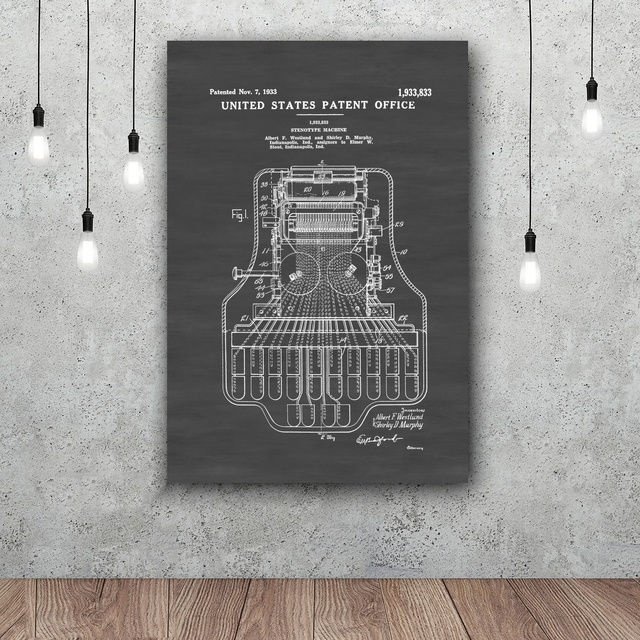 Superieur Stenotype Machine Patent Law Firm Decor Lawyer Gift Court Reporter Gift  Patent Print Wall Decor Law