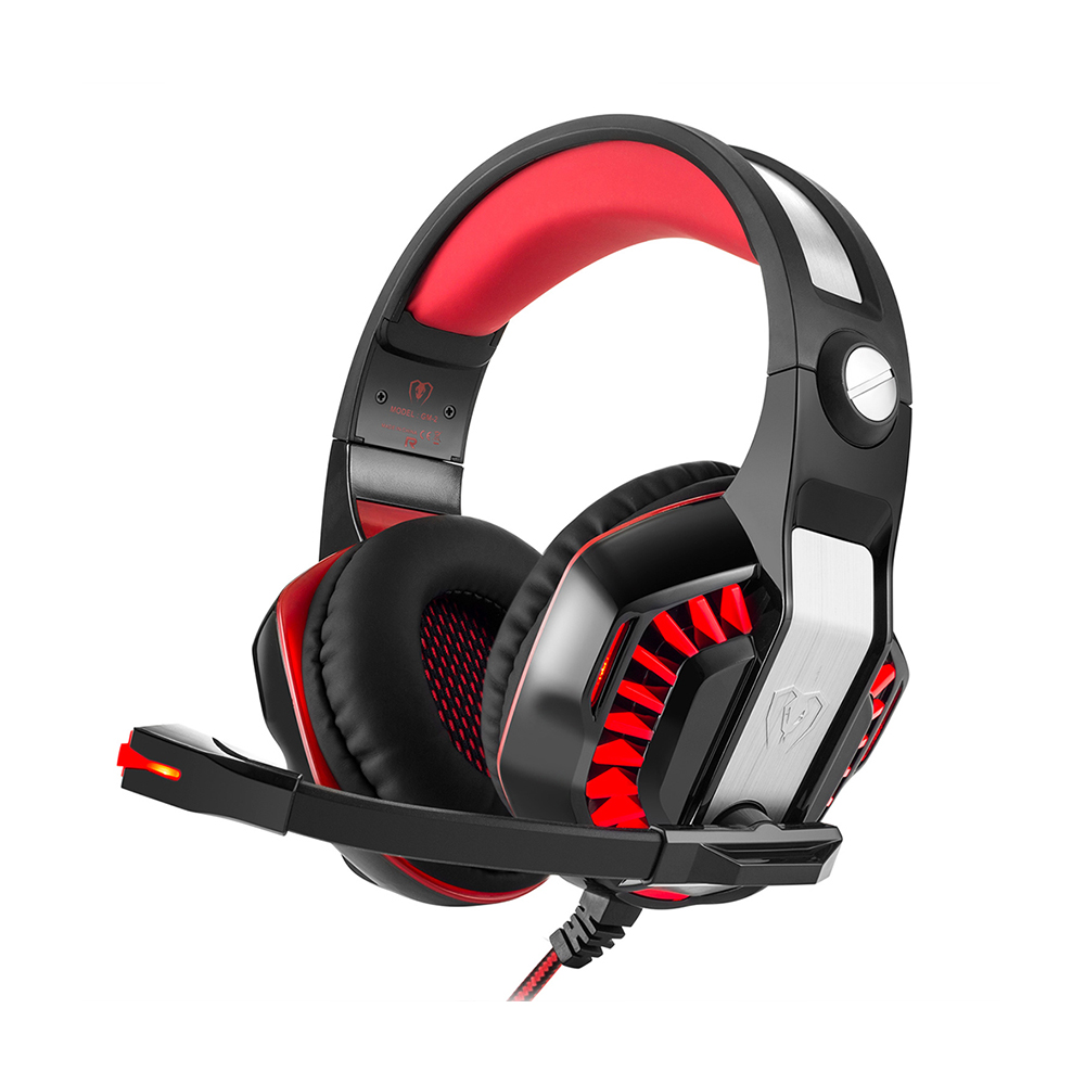 Beexcellent GM-2 Headband Game Headphones 3.5 mm USB Wired Gaming Headset for PC Gamer Computer S4 with Mic LED Light Earphones