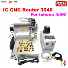 LY IC cnc router cnc 3040 + 10 in 1 mould CNC milling polishing engraving machine for iphone main board repair