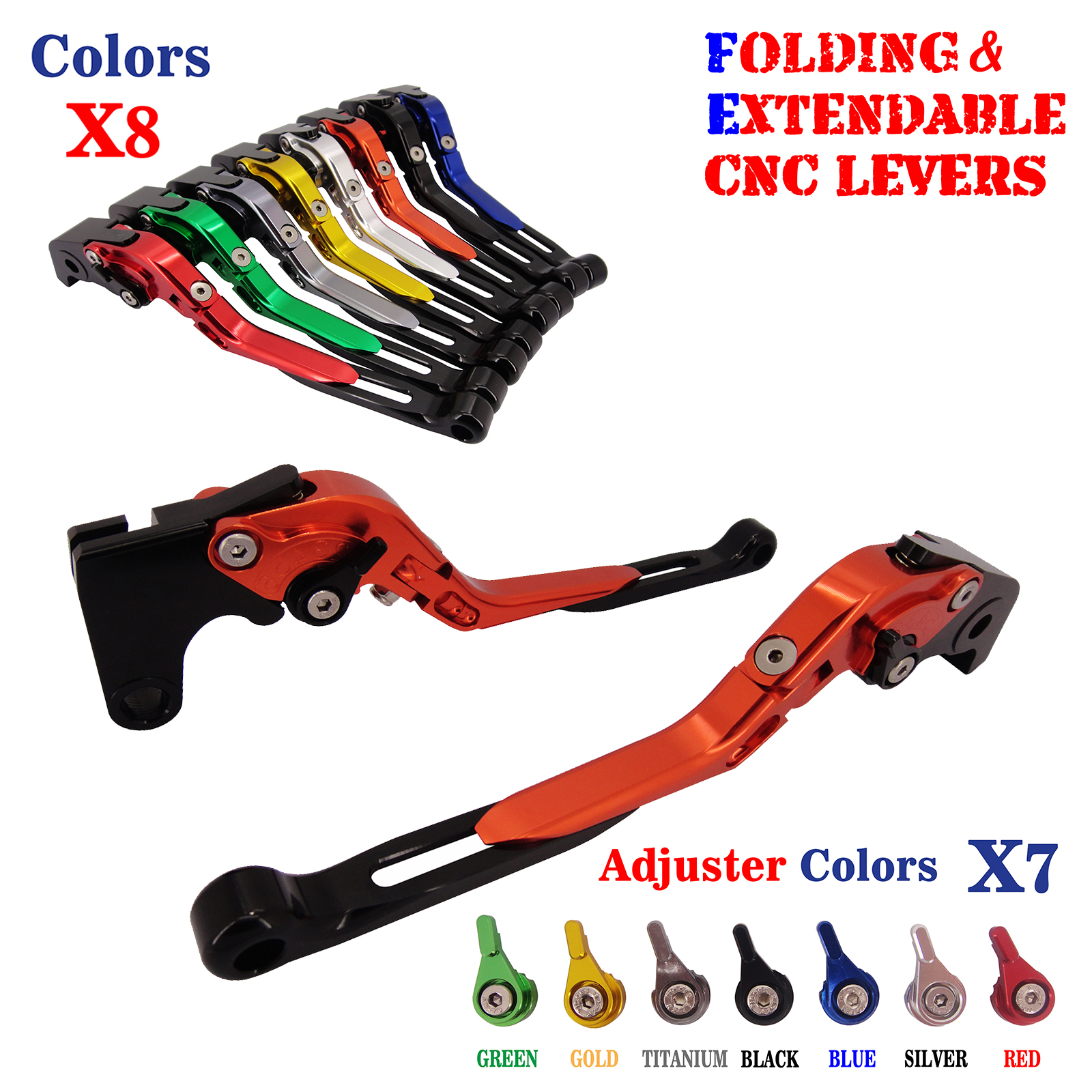 CNC Folding Extendable Brake Clutch Levers For Honda CBR250R CBR300R /CB300F/FA CBR500R/CB500F/X 2013 2014 2015 billet new alu long folding adjustable brake clutch levers for honda cbr250r cbr 250 r 11 13 cbr300r 14 cbr500r cb500f x 13 14