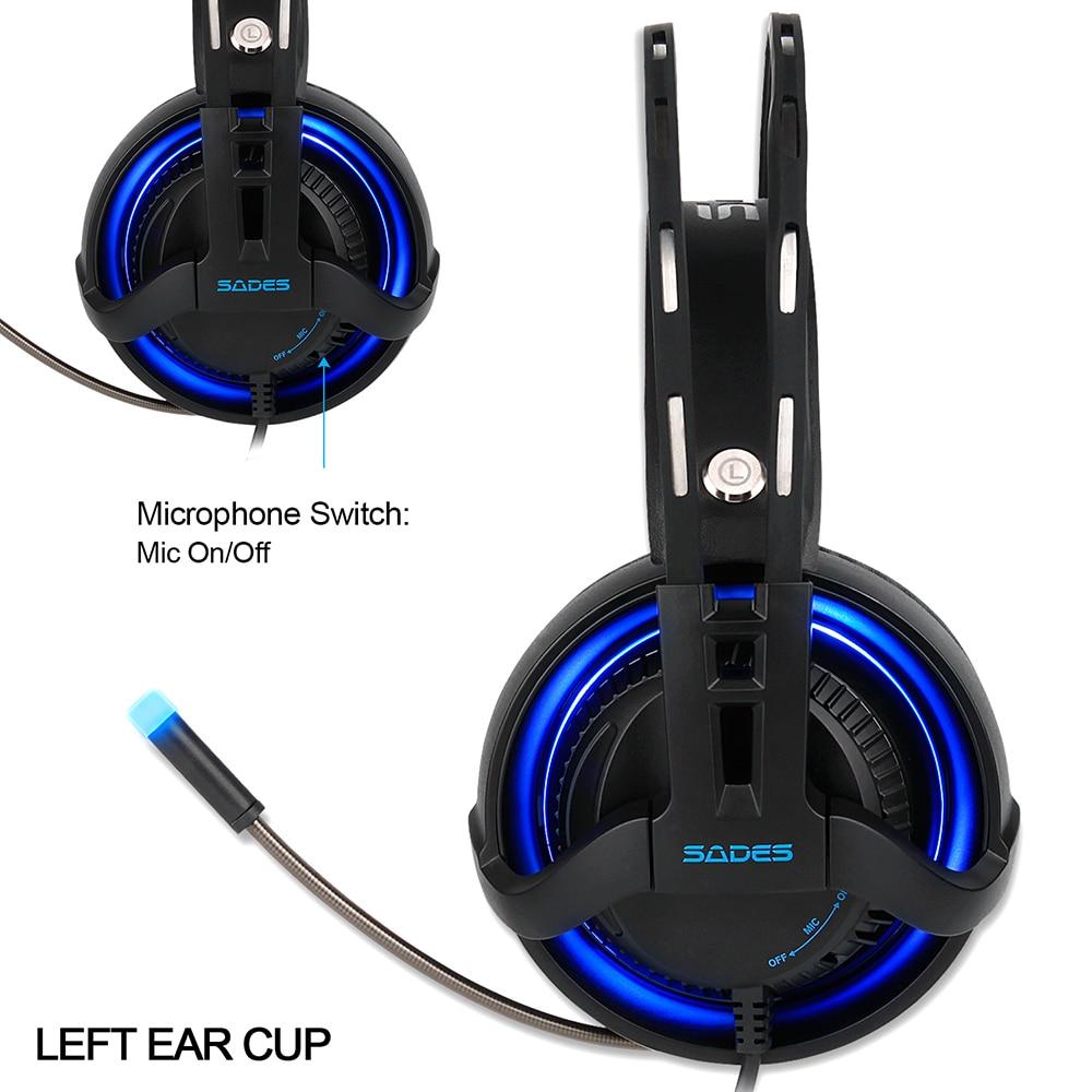 Sades r2 gaming headset stereo ses bilgisayar kulaklık usb solunum - Taşınabilir Ses ve Görüntü - Fotoğraf 3