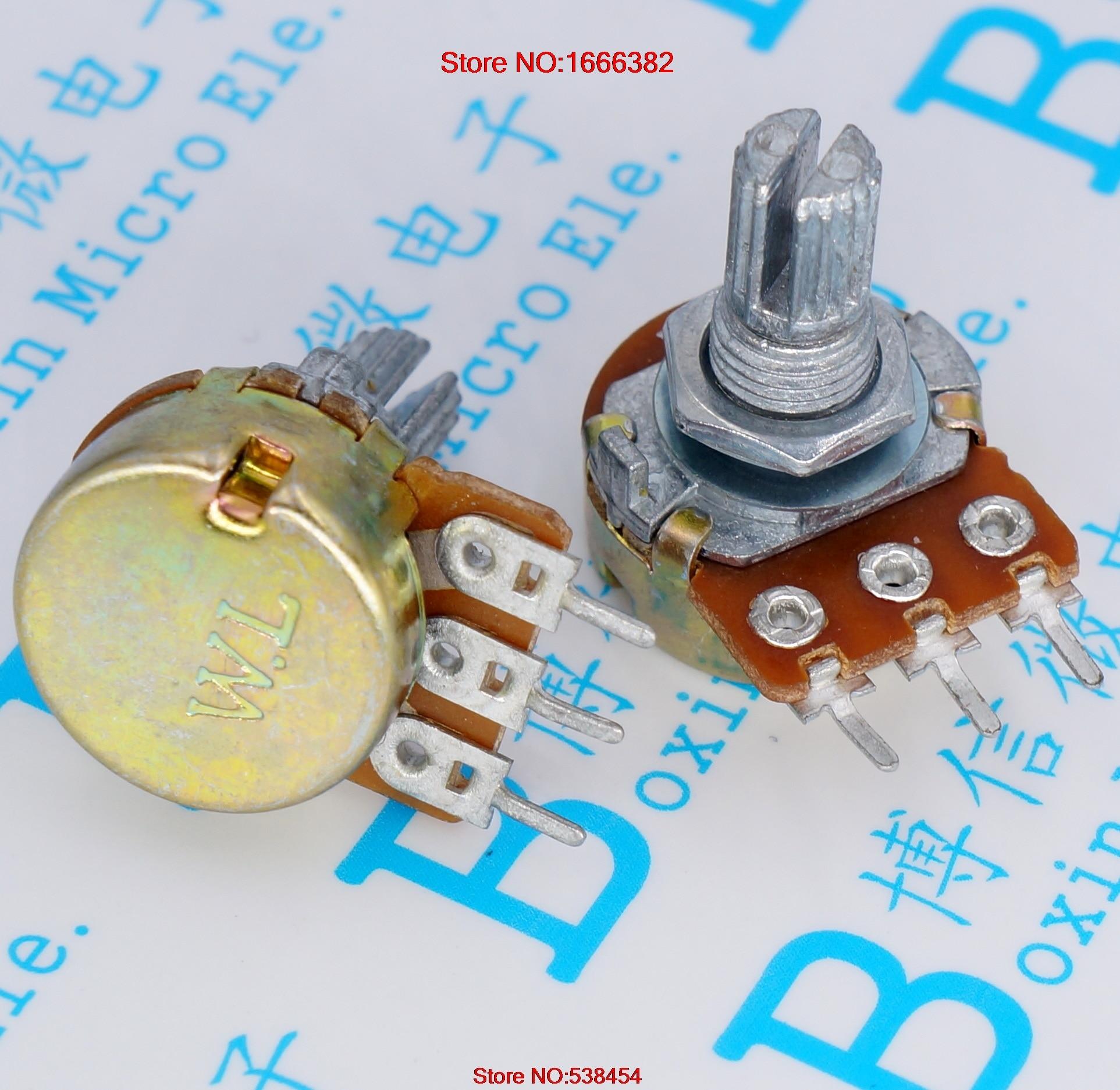 Gemotiveerd Wh148 250 K 254 Drie Voeten 15 Mm Handvat Lange Horizontale B250k Enkele Potentiometer (met Schroeven) Handvat Lengte: 15 Mm Uitgebreide Selectie;