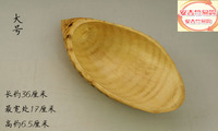 34*17.5cm Natural Zhugen disc ornaments Bamboo shovel head Home storage tray Refreshments Fruit dish Dried fruit plate