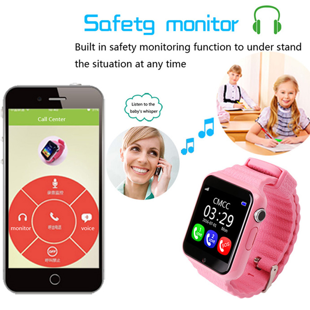 Children Security GPS Watch for Iphone and Android Phone Kids Watch With Camera SOS Call Location Safe Anti-Lost Devicer Tracker zhinan zhou windows phone 7 programming for android and iphone developers