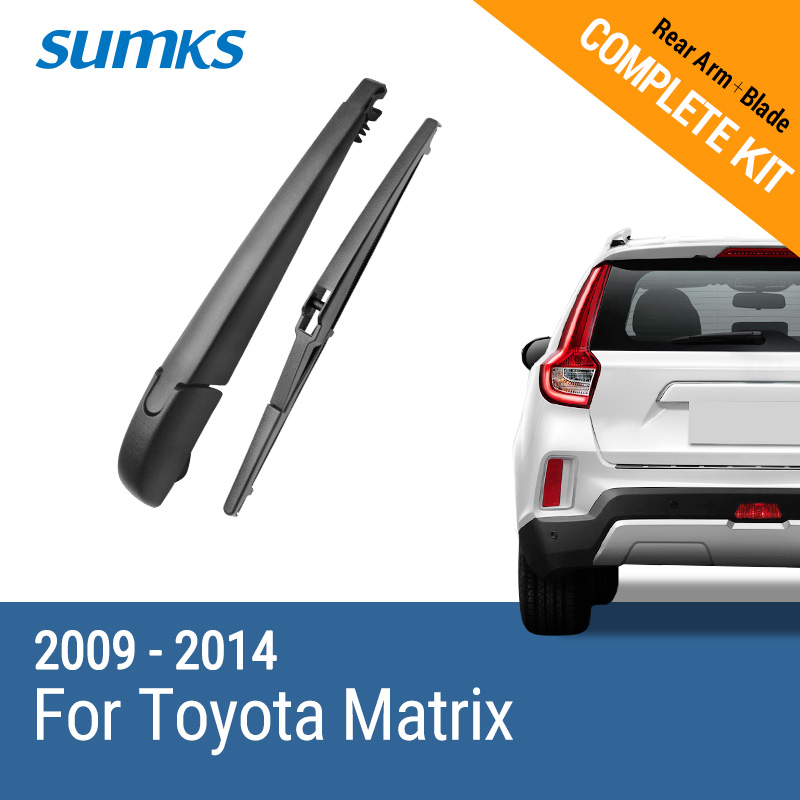 SUMKS Rear Wiper & Arm for Toyota Matrix 2009 2010 2011 2012 2013 2014