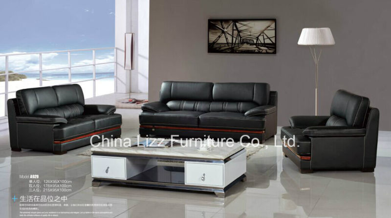 Lizz Real Leather Office Sofa Set