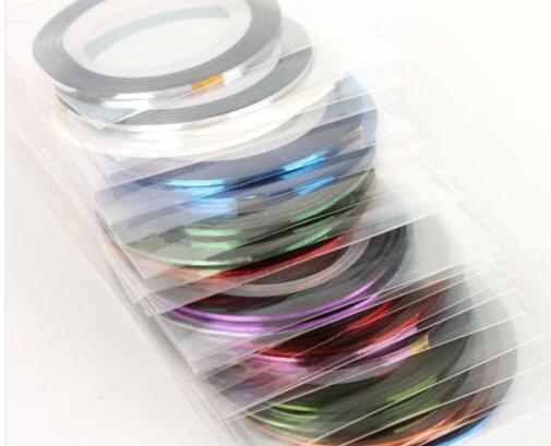 30 шт Набор для дизайна ногтей-полосовая лента,-лента для наращивания ногтей 30 упаковок mutl-colors-MKL014747