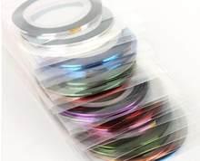 30 peças kit de arte do prego-fita striping,-fita striping do prego 30 pacote mutl-colors-MKL014747