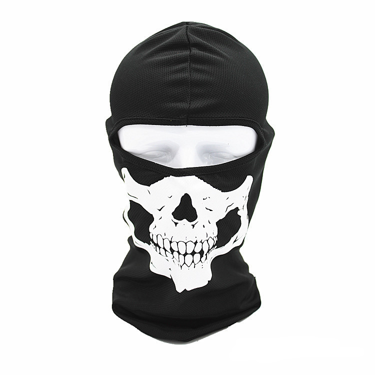 2017 New Arrivals Outdoor skullies beanies hats for Men Hat Women Cycling Motorcycle CS headgear tactical Skull Mask Halloween skullies