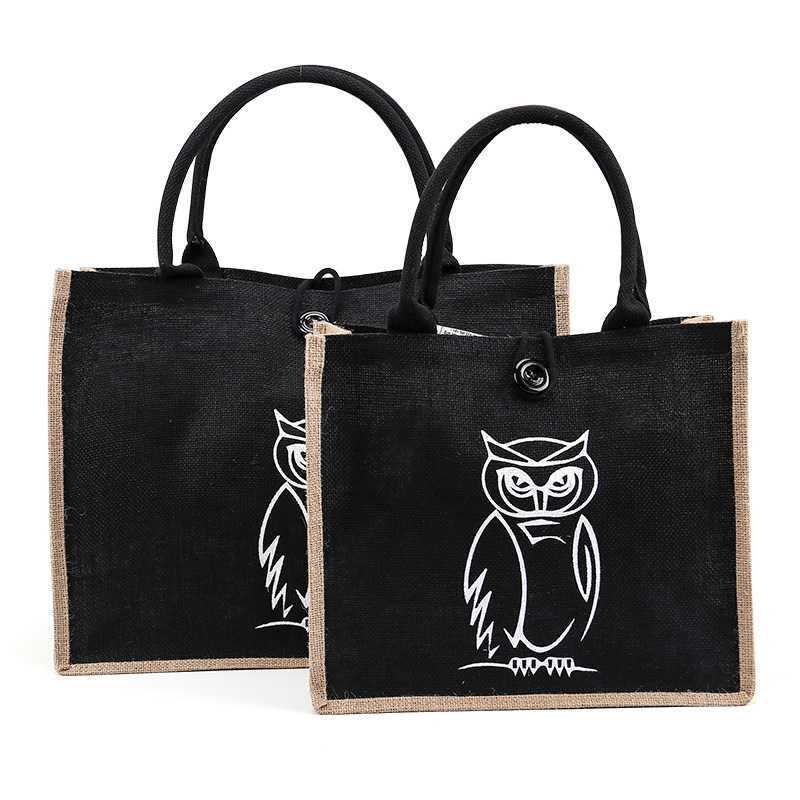 Summer Flamingo Owl Linen Luxury Tote Large Capacity Female Casual Shoulder Bag Handbag For Women Fresh Beach Shopping Bag