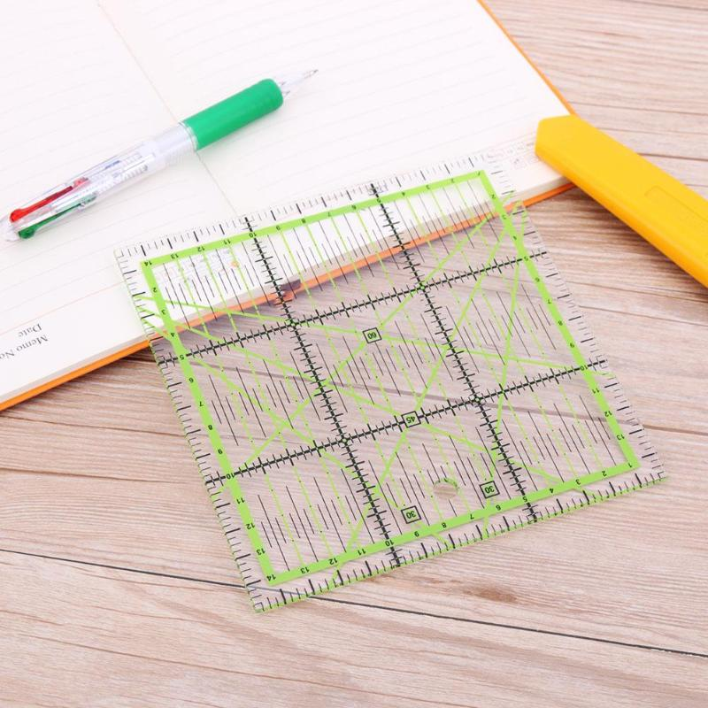 VODOOL 15*15 Cm Transparent Quilting Sewing Patchwork Ruler Home Art Cutting Tool Tailor Craft DIY Sewing Measuring Stationary