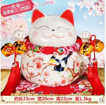 Lucky Cat car accessories factory direct selling ceramic bone china high-grade crystal seat car accessories