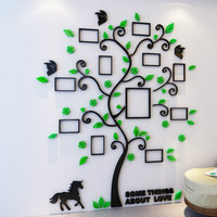 Colorful Picture Frame Tree 3D Acrylic Decoration Wall Sticker DIY Art Wall Poster Home Decor Bedroom Bathroom Wall Stickers