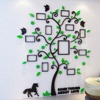 Kleurrijke Fotolijst Boom 3D Acryl Decoratie Muursticker DIY Art Muur Poster Home Decor Slaapkamer Badkamer Muurstickers