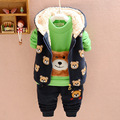 New Spring Autumn Baby Boys Cartoon Bear Clothing Sets Kids Girls Clothes Suits Toddler 3 Pcs Casual Sport hoodies Tracksuit