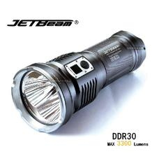 Original JETBEAM DDR30 Cree XM-L2 LED 3300 lumens led flashlight daily torch Compatible with 3*18650 battery for self defense