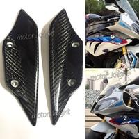 Front Fender Spoiler Winglets Fairing Carbon Fiber Side Wing Let For BMW S1000RR HP4 2009 2014 Full Carbon Fiber 100% Twill