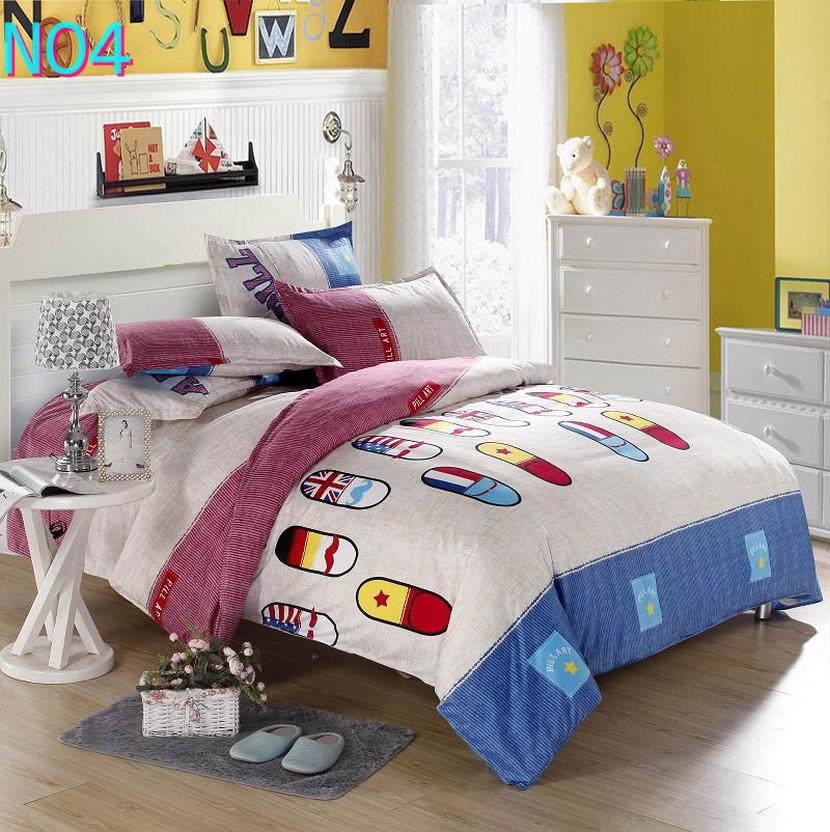 Красивые Облака Стиль хлопковый комплект постельного белья, постельное белье набор 3/постельного белья из 4 предметов, комплект с надписью «розовый», цвет бел - Цвет: Красный
