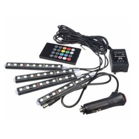 RGB LED Strip Light Atmosphere Lamps Car Styling Lamps Car Interior Light With Remote
