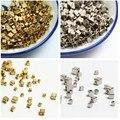 500 шт, 3 мм, 4 мм, 5 мм, золото/серебро Цвет акриловые бусины квадратные разделители Бисер для изготовления ювелирных изделий DIY ожерелий и брас...