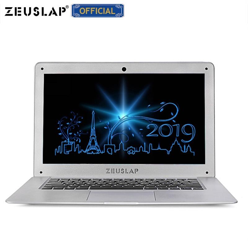 ZEUSLAP-A8 Plus 14inch Ultrathin Laptop 4GB Ram+128GB SSD Intel Quad Core Fast Boot Win10 Ultrabook Notebook Computer