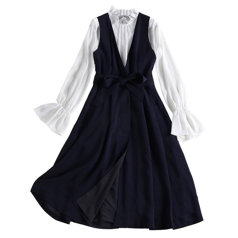 Early autumn fashion commute 2019 new women's two-piece set female elegant 2 pieces set clothes
