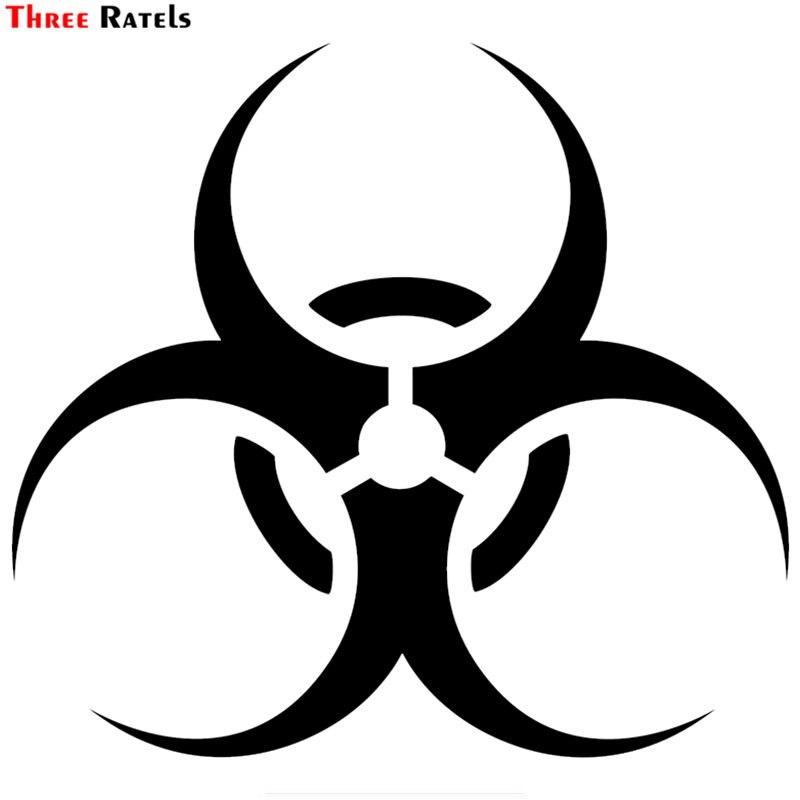 Three Ratels LBH511 # 15x13.8 CM Biohazard Symbol Popular Creative Vinyl  Sticker Car-styling Decal Car Sticker
