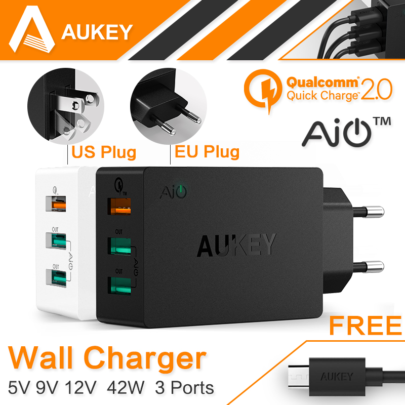 AUKEY Original Quick Charge 2.0 USB Wall Chargers