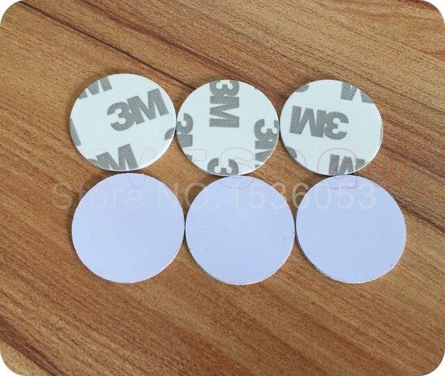 50 stücke 25mm 125 Khz RFID Karten ID 3 M Aufkleber Münze Karten TK4100 Chip Kompatibel EM4100 Für Access control