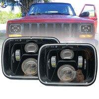 55W 5x7'' DRL Rectangular Sealed Beam Led Headlight for Jeep wrangler YJ Cherokee XJ H6054 H5054 H6054LL 69822 6052 E046