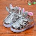2017 niños de los niños de ala luz led up toddler shoes chaussure enfant chicos gilrs sneakers casual shoes 1 2 3 4 5 6 7 8 años de edad
